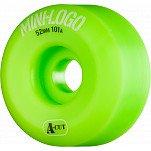 Mini Logo Skateboard Wheel A-cut 52mm 101A Green 4pk
