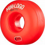 Mini Logo Skateboard Wheel C-cut 54mm 101A Red 4pk