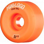 Mini Logo Skateboard Wheel A-cut 53mm 101A Orange 4pk