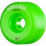 Mini Logo Skateboard Wheel A-cut 53mm 90A Green 4pk