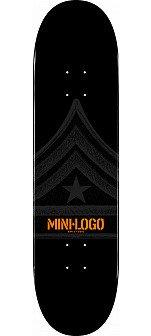 Mini Logo Quartermaster Skateboard Deck 112 Black - 7.75 x 31.75