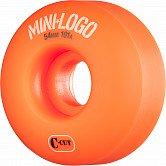Mini Logo Skateboard Wheel C-cut 54mm 101A Orange 4pk