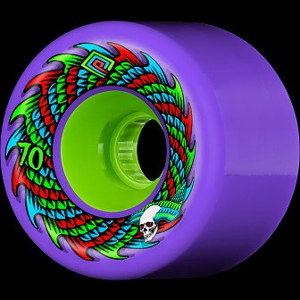 Powell Peralta Soft Slide Skateboard Wheel 70mm 75A 4pk Purple