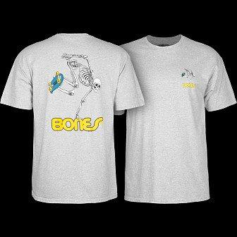 Powell Peralta Skate Skeleton T-shirt - Gray