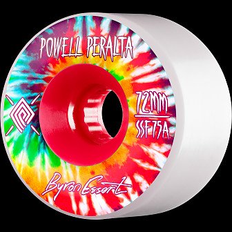 Powell Peralta Soft Slide Byron Essert 72mm 4pk White Wheels